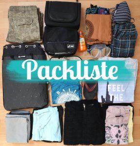 Packliste Titelbild