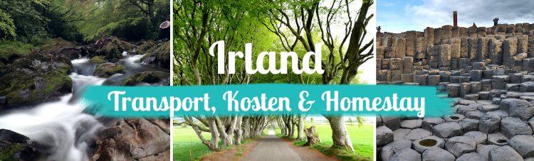 Titelbild Irland Transport Kosten und Homestay