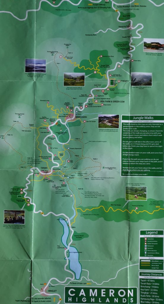 Malaysia - Cameron Highlands Sehenswürdigkeiten