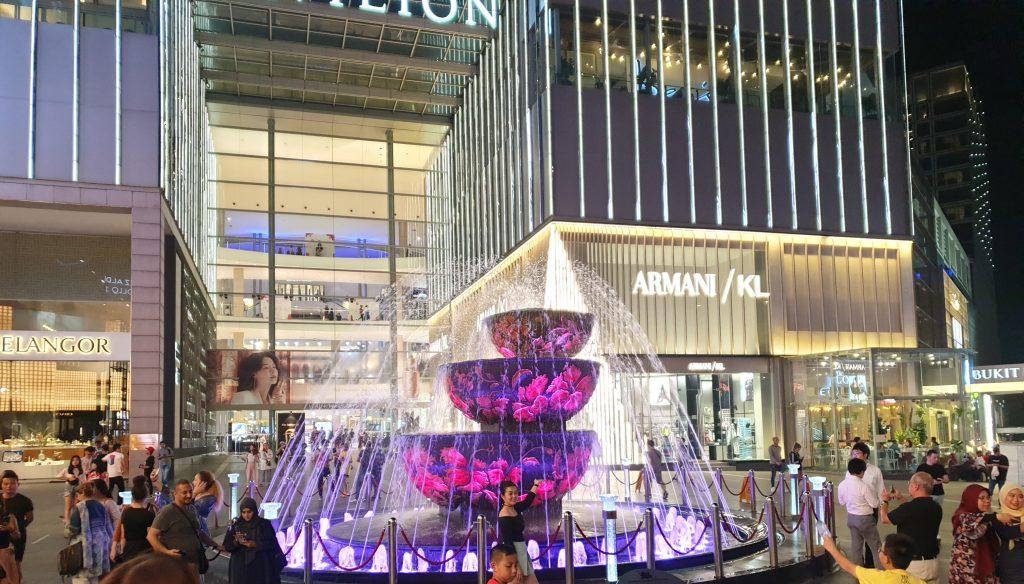Malaysia - Kuala Lumpur - Sehenswürdigkeiten - Pavilion Crystal Fountain