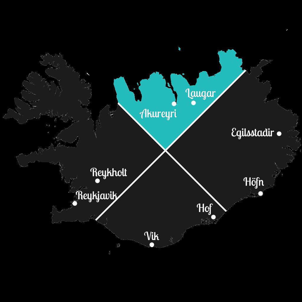 Island - Norden der Insel - Markierung