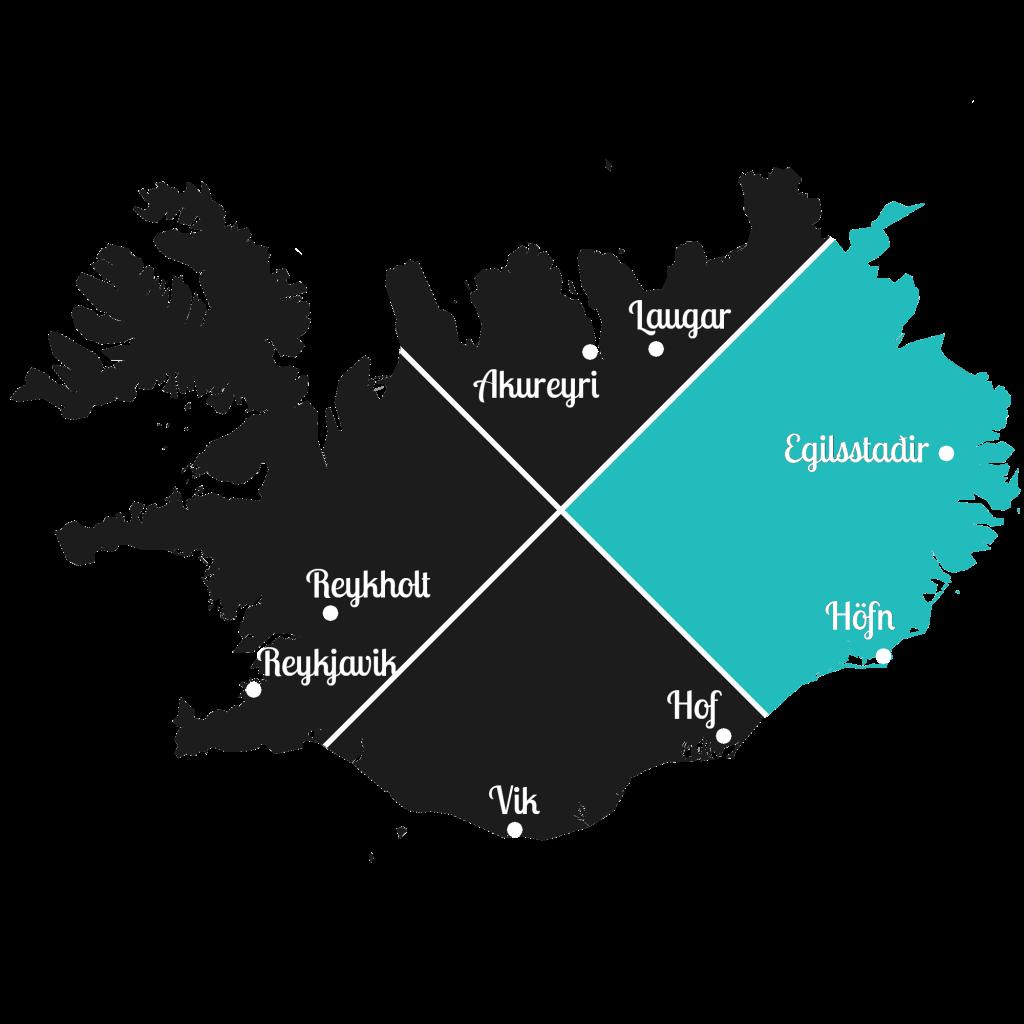 Island - Osten der Insel - Markierung