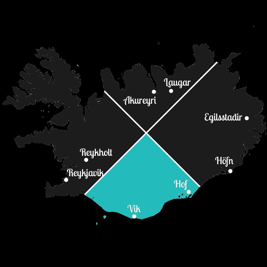 Island - Süden der Insel - Markierung