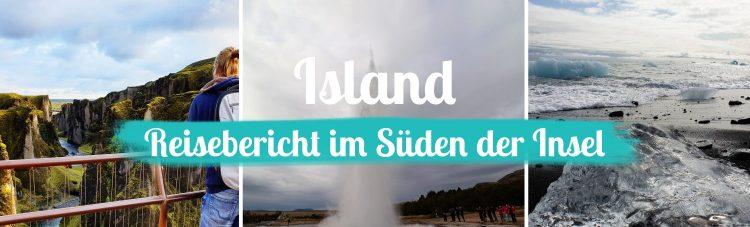 Titelbild - Island - Reisebericht Süden - mit Text