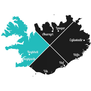 Island - Westen der Insel - Markierung