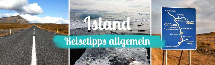 Titelbild - Island - Reisetipps allgemein - mit Text