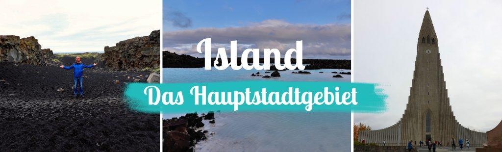 Titelbild - Island - Sehenswürdigkeiten Hauptstadtgebiet - mit Text