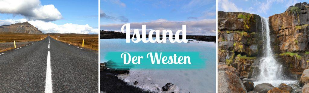 Titelbild - Island - Sehenswürdigkeiten Westen - mit Text