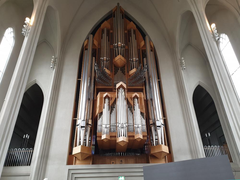 Island - Sehenswürdigkeiten Hauptstadtgebiet - Hallgrimskirche innen