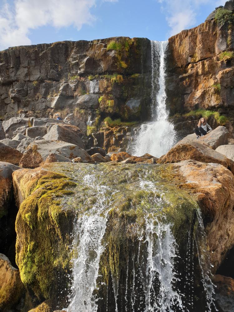 Island - Sehenswürdigkeiten Hauptstadtgebiet - Lögberg Wasserfall