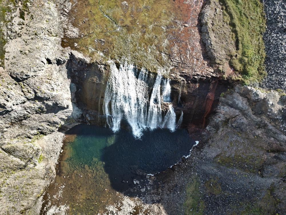 Island - Sehenswürdigkeiten Hauptstadtgebiet - Porufoss Wasserfall