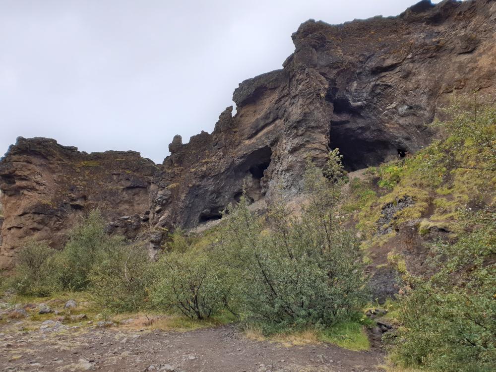 Island - Sehenswürdigkeiten Hauptstadtgebiet - Glymur Höhle