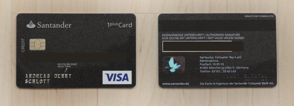 Kreditkartenvergleich - Santander 1plus VISA