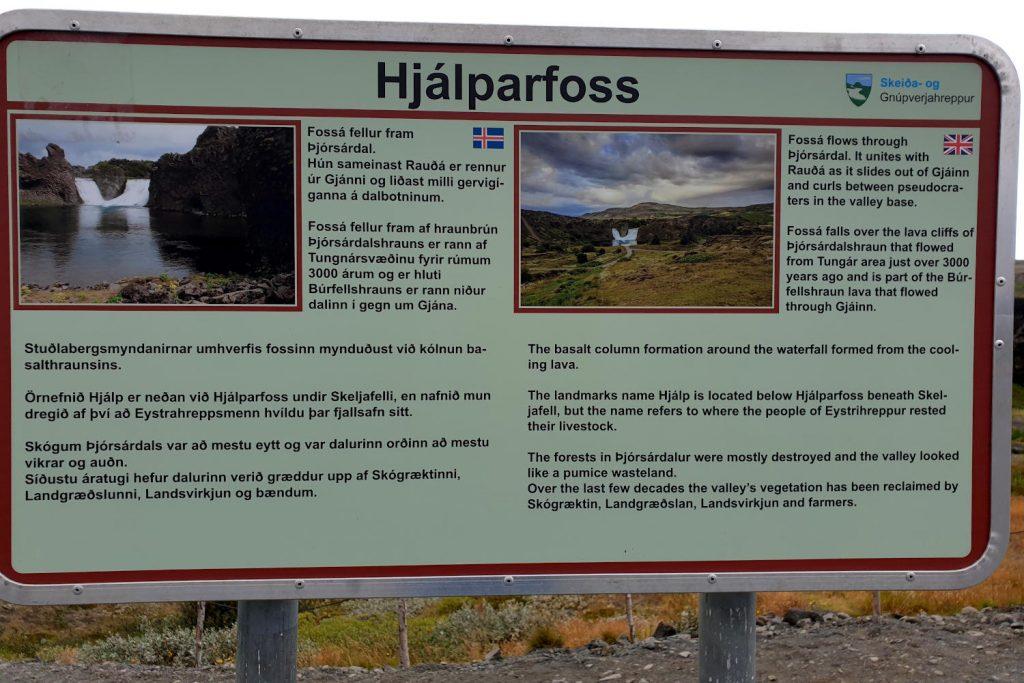 Island - Der Süden - Hjálparfoss