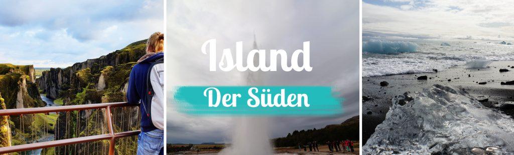 Island - Titelbild - Der Süden - mit Text