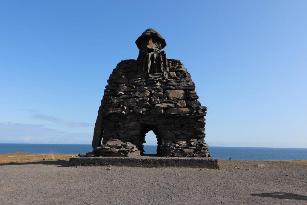 Island - Der Westen - Snæfellsáss Statue