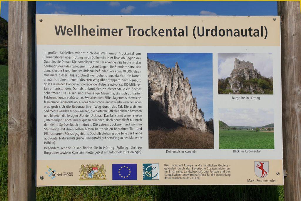 Deutschland - Bayern - Maueren Höhlen Schild