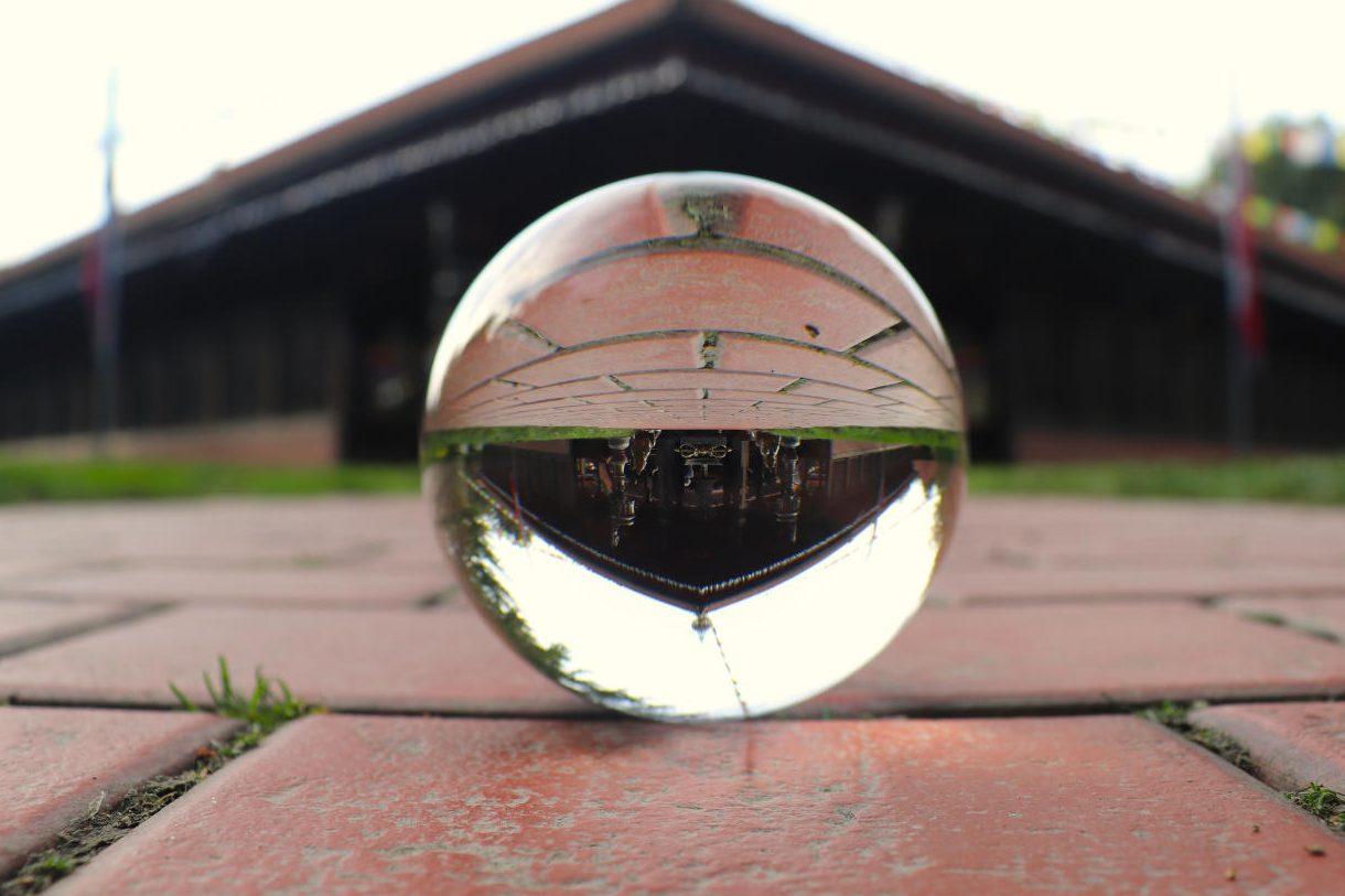 Deutschland - Wiesent - Nepal Himalaya Park - Pavillon Lense Ball