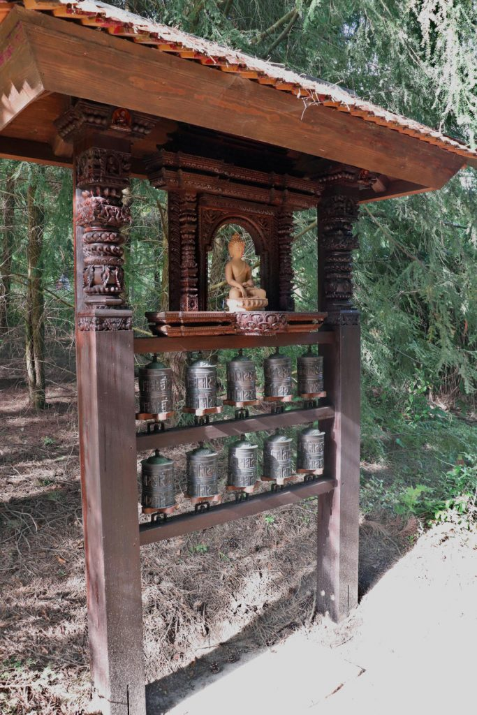 Deutschland - Wiesent - Nepal Himalaya Park - Shangri La Ausgang Gebetsmühlen