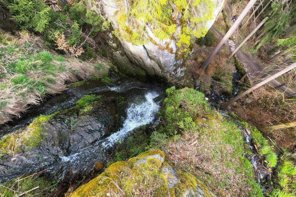 Blauenthal Wasserfall - Wasserfall von oben